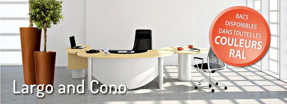 Largo and Cono - bacs disponibles dans toutes les couleurs Ral