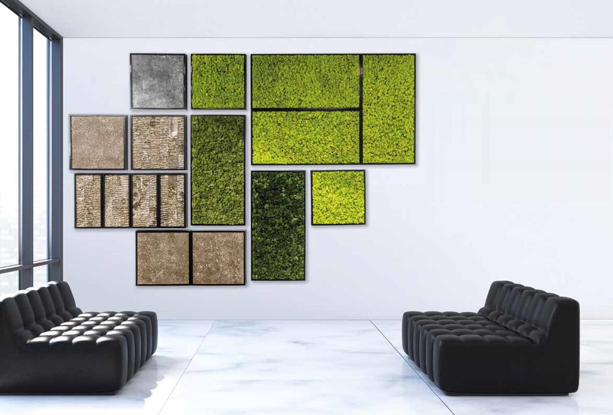 Les murs et les cadres végétaux.